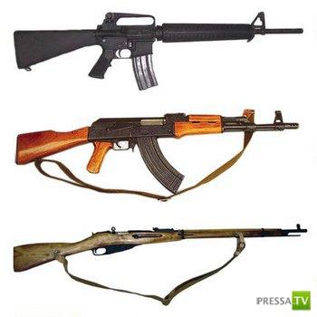 Прикольное сравнение оружия....