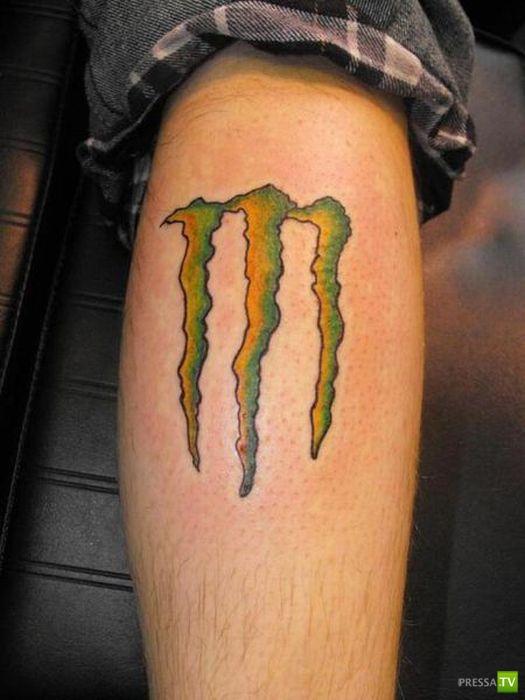 Брендированные татуировки (24 фото)
