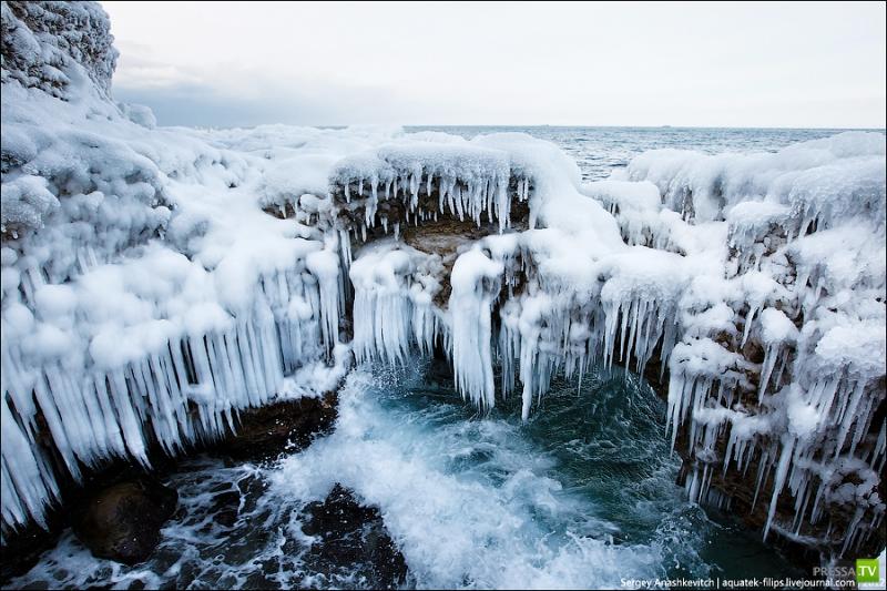 Ледяные гроты Черного моря