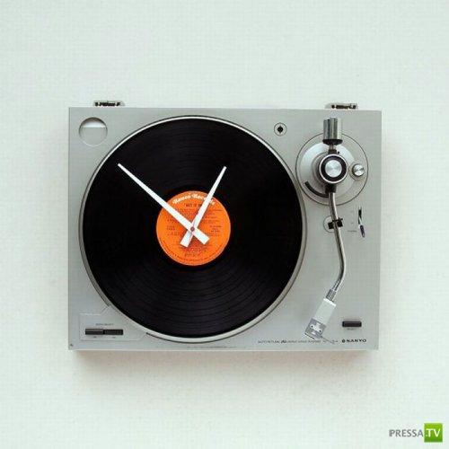 Креативные настенные часы... (26 фото)