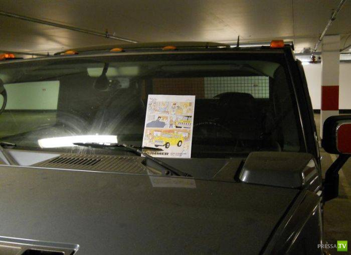 Троллинг водителя Hummer (3 фото)
