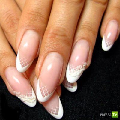 Французский маникюр фото на овальные ногти фото