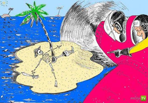 Улыбнись!!! Смешные карикатуры (19 картинок)