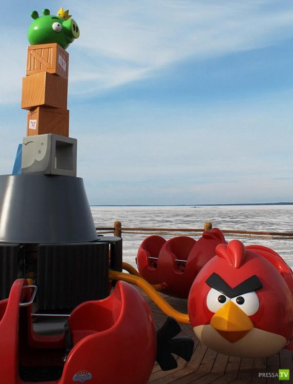 Парк Angry Birds в Финляндии (8 фото)