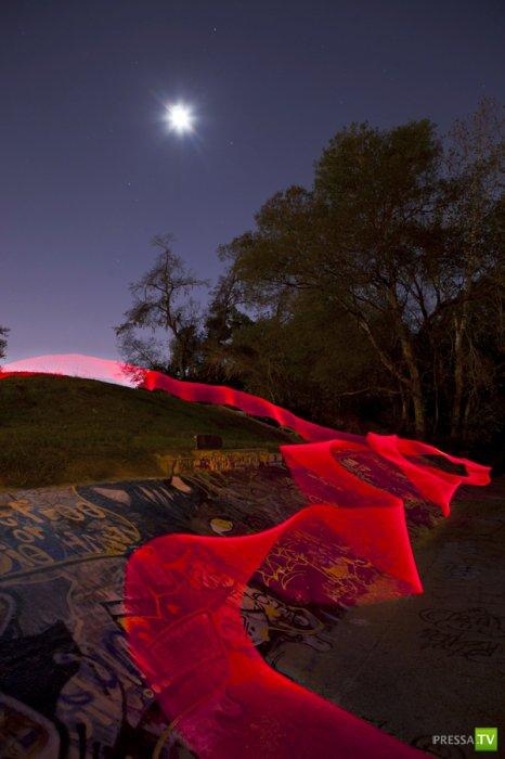 «Светодиодная живопись» от Энди Хемингуэй (Andy Hemingway) (12 фото)