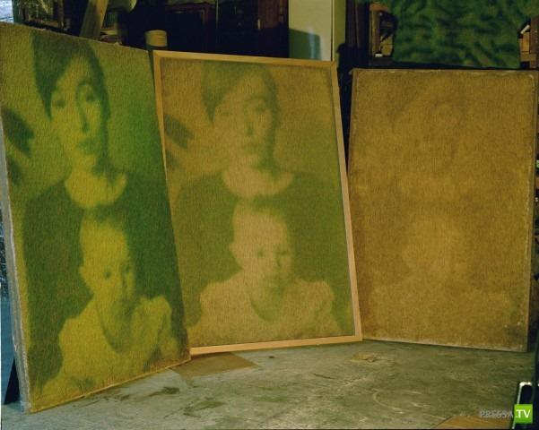 Экройд и Харви создает портреты из травы (8 фото)