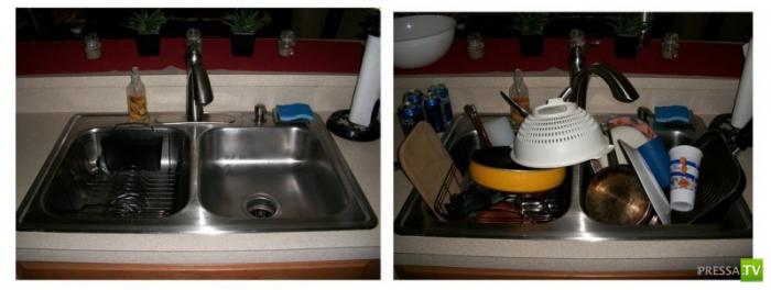 Жена дома и жена в командировке... Почувствуйте разницу!!! (7 фото)