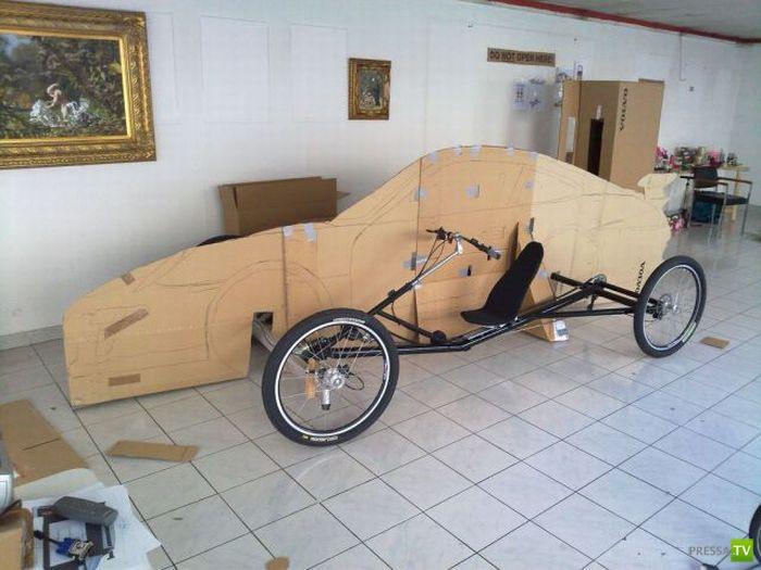 """Сделал """"Порше- 911"""" из двух велосипедов (26 фото)"""