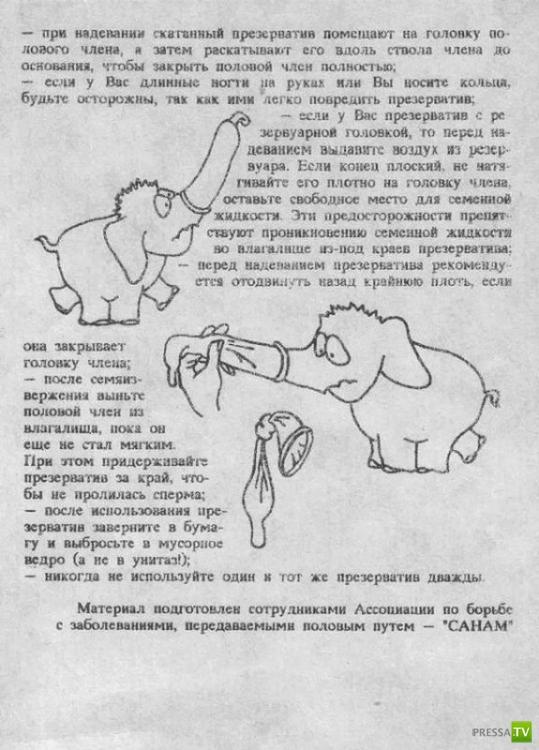 Инструкция по использованию презерватива...