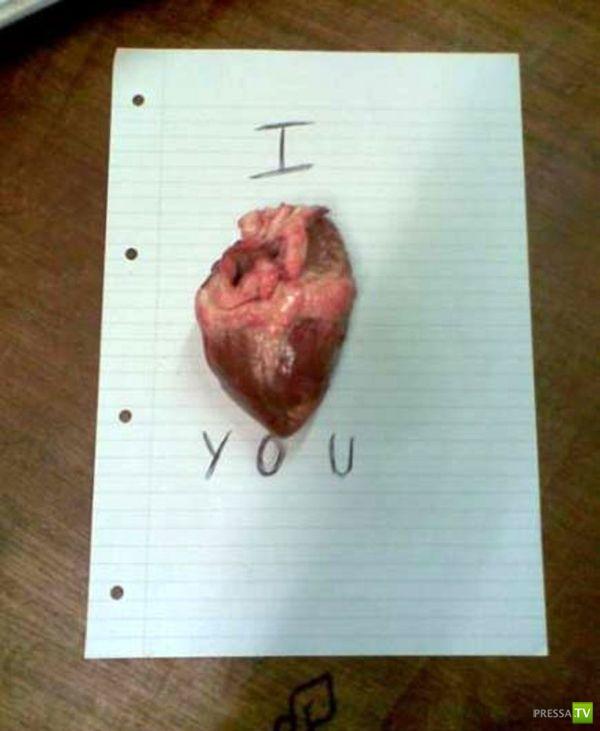 Необычные признания в любви (10 фото)