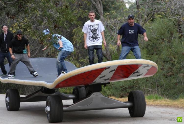 Самый большой скейтборд в мире от компании California Skateparks (3 фото)