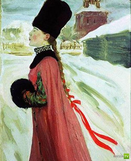 Признаки, по которым на Руси отличали девицу от мужней жены (8 фото)