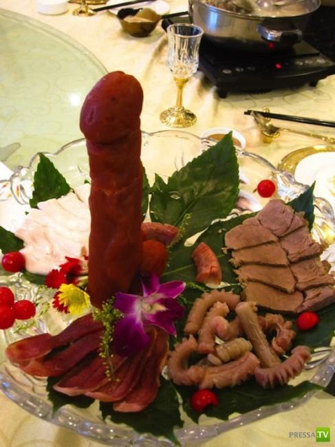 Премудрости китайской кулинарии - деликатесы из пенисов животных (3 фото)