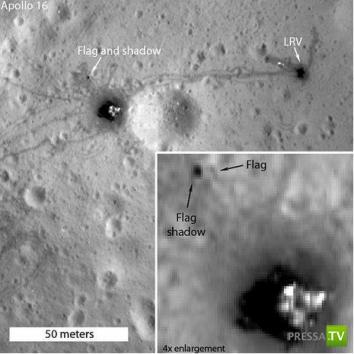 Куда исчез американский флаг с Луны? (2 фото)