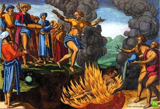 Самосожжение (или сати) —жуткий ритуал Индии (5 фото)