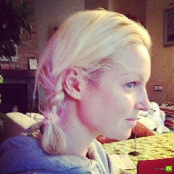 Известная балерина Анастасия Волочкова выложила в сеть свои фото без макияжа (3 фото)