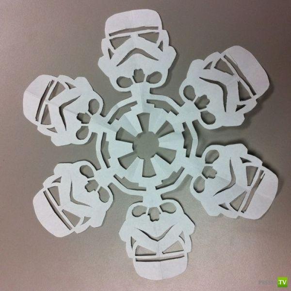 Звездная снежинка своими руками