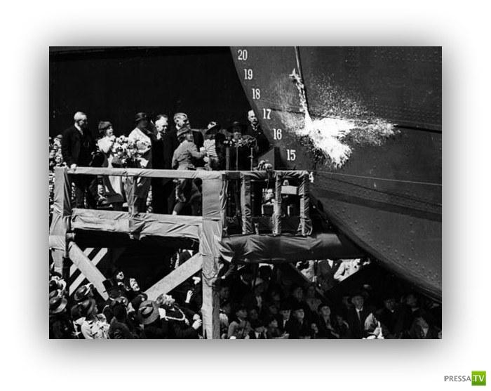 Откуда пошла традиция разбивать бутылку шампанского о борт нового судна