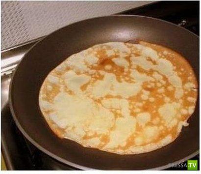 Как приготовить вкусные блинчики и не запачкать при этом посуду...
