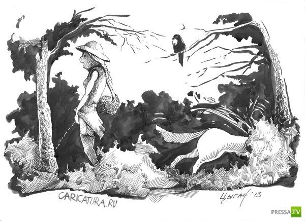 Веселые карикатуры, часть 2 (20 фото)