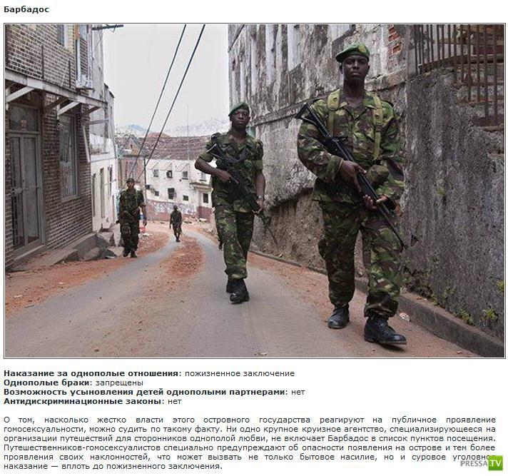 Страны, не признающие однополую любовь (8 фото)