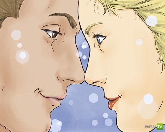 Как первый раз поцеловать парня (5 фото)