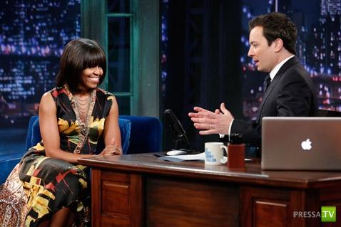 Первая леди США Мишель Абама стала звездой Youtube (3 фото + видео)