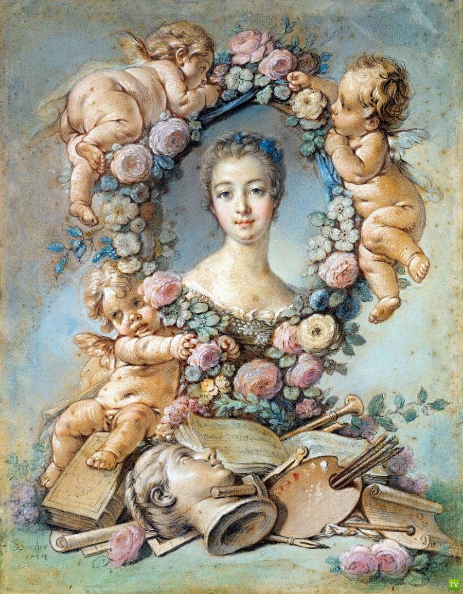 Уроки любви Маркизы де Помпадур (marquise de Pompadour) (10 фото)