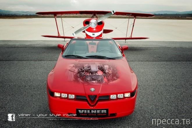 Отреставрированный родстер Alfa Romeo Zagato (9 фото)