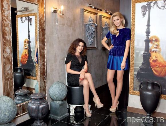 Анастасия Заворотнюк с дочерью (4 фото)
