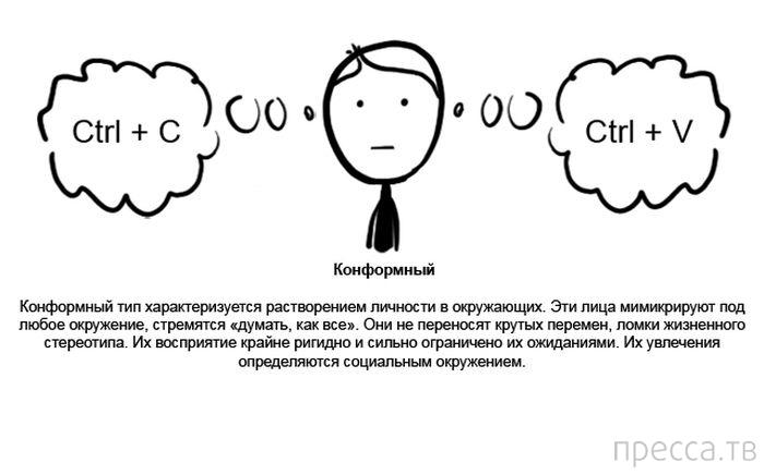 Характеристики основных психотипов людей. К какому относитесь вы? (10 фото)