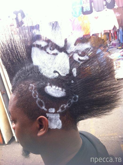 Парень продает место для рекламы... на голове (36 фото)
