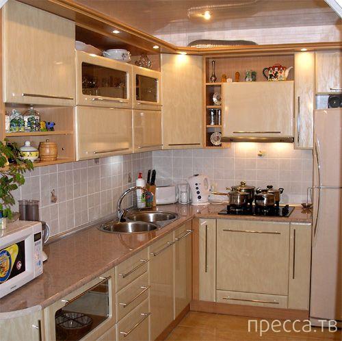 Креативный дизайн маленькой кухни (22 фото)