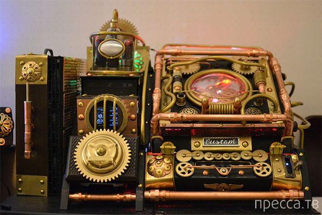 Персональный компьютер в стиле стимпанк (8 фото)