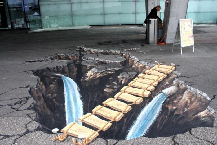 Необыкновенное трехмерное графитти (36 фото)