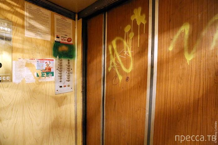 Жизнь дала трещину, переехал на Троещину... Необычный подъезд в Киеве (29 фото)