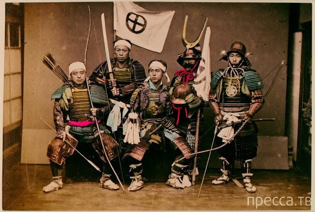 Подлинные снимки настоящих японских самураев конца XIX века (8 фото)