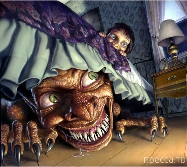 Топ 5:  Виды ночных кошмаров, которые бывают у всех людей (6 фото)