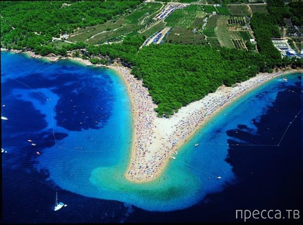 """Самый удивительный пляж: """"Золотой рог"""" (Zlatni Rat) в Хорватии (6 фото)"""