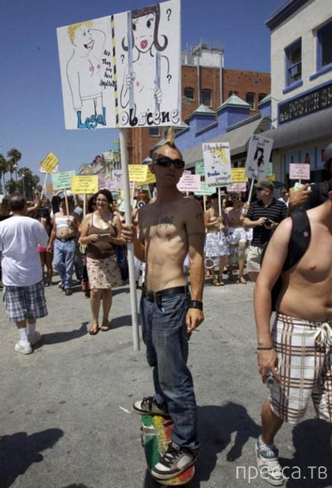 Единый Национальный топлесс-день в США (14 фото)