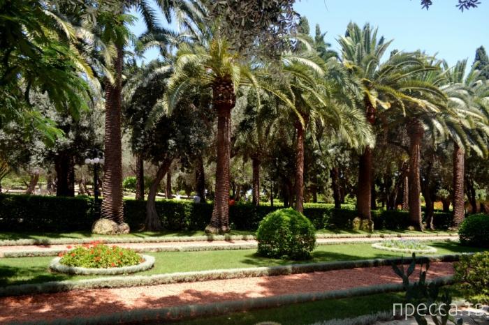 Израиль. Хайфа. Восьмое чудо света - Бахайские сады (15 фото)