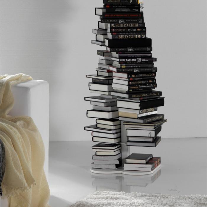 Креативная мебель: Книжный шкаф в форме структуры ДНК (7 фото)