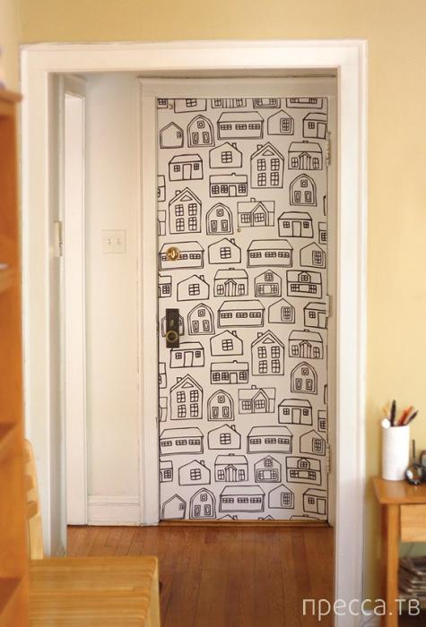Как декорировать двери своими руками фото
