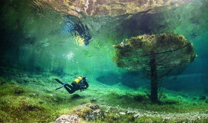 Уникальный подводный парк в Австрии (6 фото)