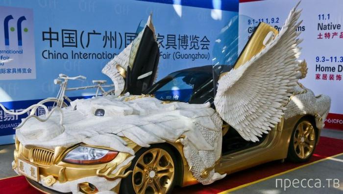 """Необычный тюнинг BMW в стиле """"Летающий дракон"""" (4 фото)"""