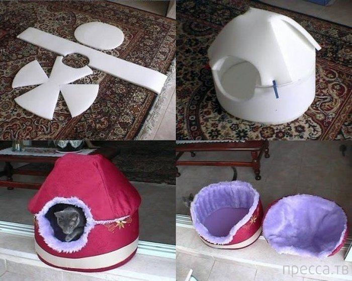 Для котят домик своими руками