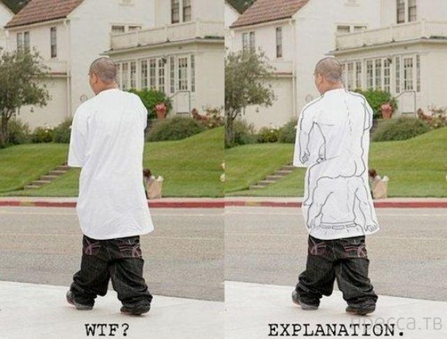 Спущенные штаны: модная тенденция, не имеющая смысла (25 фото)