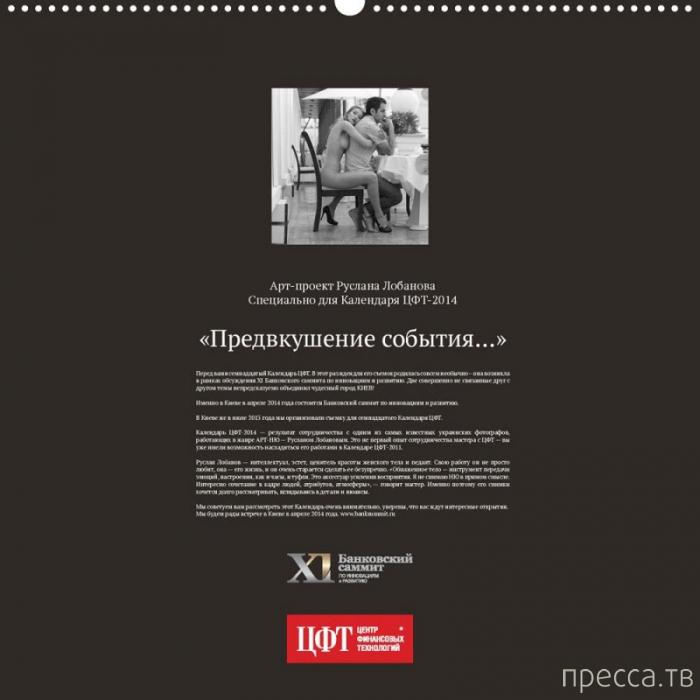 (18+) Эротический календарь к Банковскому саммиту в Киеве (15 фото)