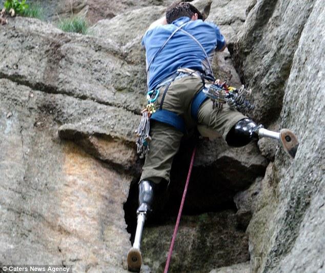 Альпинист без ног (5 фото)