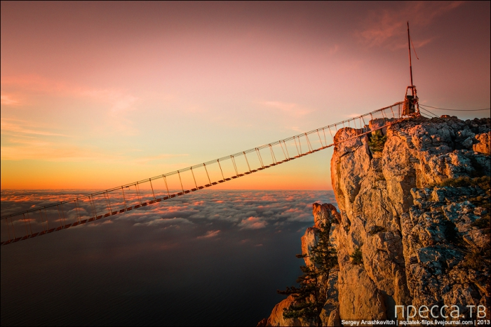 Подвесные мосты на Ай-Петри (8 фото)